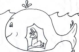 Jonah And The Whale Coloring Page Kids Coloring Jonah And The