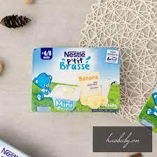 [Đồ ăn dặm cho bé] Sữa chua/ váng sữa nguội Nestle ăn dặm vị tự nhiên,  chuối, mơ, lê cho bé 4, 6, 7, 8, 9.. 12m