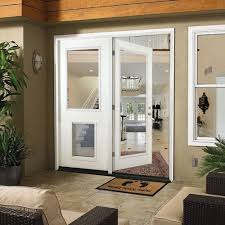 center hinged patio doors. White Prehung Primed Left-Hand Fiberglass Inswing Center-Hinged Patio Door, Center Hinged Doors E