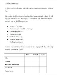 Sample Business Plans Templates Business Plan Template 10 Free Samples Examples Format