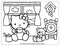Hello Kitty Colring Sheets Kitty Coloring Page Campingrochemaux Info