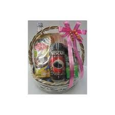house warming gift flowers with fruit basket 25