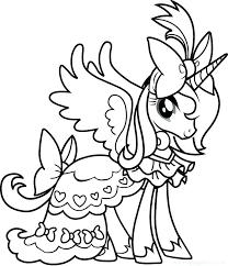 My Little Pony Coloring Pages Princess Celestia Baby Princess Pony