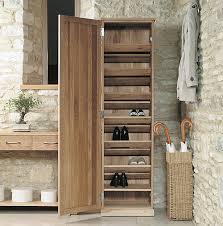 Solid Oak Shoe Storage Cupboard