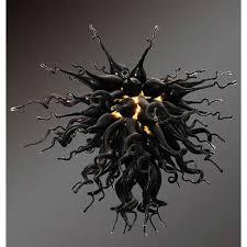 viz art glass mini black obsidian chandelier