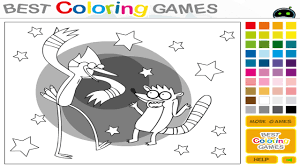 Coloring Regular Show Drawing Game Painting Games For Kids Free