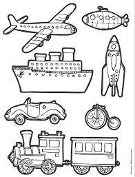 146 Dessins De Coloriage Transport Imprimer