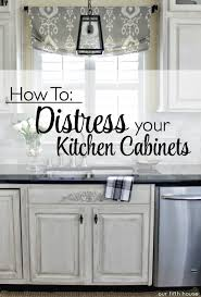 Distressed Kitchen Cabinets: How To Distress Your Kitchen Cabinets   Our  Fifth House