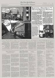 New Shambles Recovery The Bushwick - Signs Times Of '77 York In Showing A