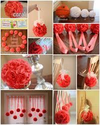 12 - 6 inch wide - CORAL - wedding pomanders - you choose ribbon color.