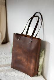 brown distressed leather bag illa roja leather tote premium sy waxed leather