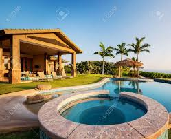 luxury home swimming pools. Contemporary Home Luxury Home With Swimming Pool At Sunset Stock Photo  28327038 With Home Swimming Pools R