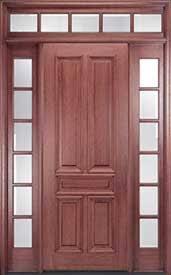 exterior panel doors. mahogany 5-panel solid wood exterior door with transom and sidelites panel doors