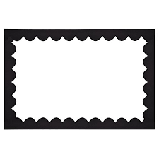 shappy scalloped border trim black felt decorative border for bulletin board and wall decoration 36 feet total length