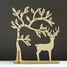 deer necklace holder laser cut wood jewelry storage tree earring jewellery organizer stand stud earrings head