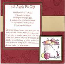 sbook pages recipes hot apple pie dip recipe apple pie dip making a cookbook appetizer recipes