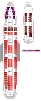747 400 Seating Chart United Airlines Virgin Atlantic Boeing 747 400 Premium Economy Seating Plan