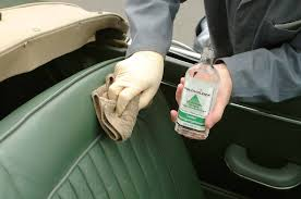 use leather cleaning spirit to remove grease before re colouring