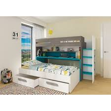 Bo10 Twin Bunk Bed With Desk And Underbed Drawers - Year of Clean Water