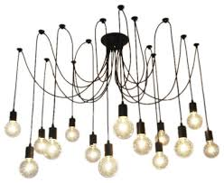 14 light pendant swag chandelier black