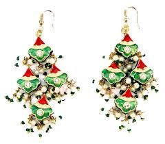indian lac costume jewellery earrings