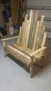 recycled pallet sy outdoor bench