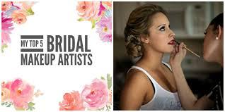 my top 5 bridal makeup artists