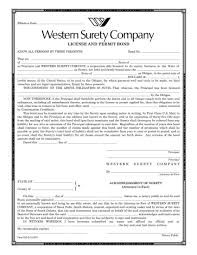 surety bond form wisconsin superior general contractor or construction surety bond