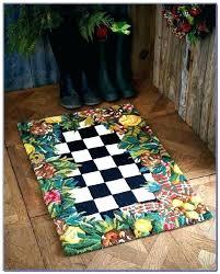 kitchen rugs good floor cloth rug runner mat fl on inspired mackenzie childs flower market