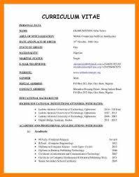 Format Curriculum Vitae Cool Academic Cv Format Curriculum Vitae Resume Example Latest Relevant