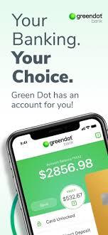green dot mobile banking on the app