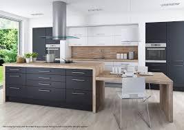 wko graphite dark grey fitted kitchen walls with brown cabin