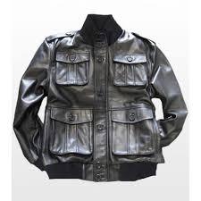 safari military mens leather er jacket