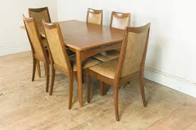 Vintage Retro Danish Oak And Teak Extending Table And 6 Teak Chairs