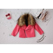 faux leather jacket toddler baby girl pink coat 2t 3t