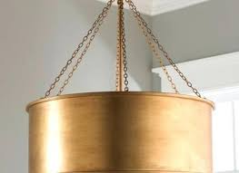 gold drum chandelier patina metal shade pendant large lighting lighting single light wide integrated led drum chandelier metal gold champagne