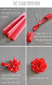 How To Make Rose Flower With Tissue Paper Tissue Paper Rose Tissue Paper Flowers Paper Crafts Diy