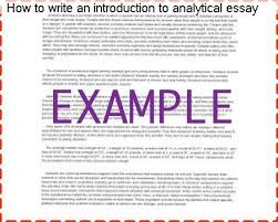 how to write an introduction to analytical essay term paper  how to write an introduction to analytical essay