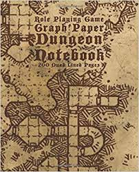Role Playing Game Graph Paper Dungeon Notebook 200 Quad Lined Pages