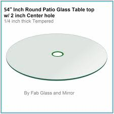 54 inch round glass table top