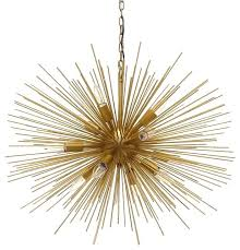 starburst light brushed gold sputnik chandelier uk chandeliers