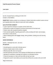 10+ Receptionist Resume Templates - Pdf, Doc | Free & Premium Templates