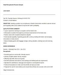Receptionist Resume Sample Mesmerizing 60 Receptionist Resume Templates PDF DOC Free Premium Templates
