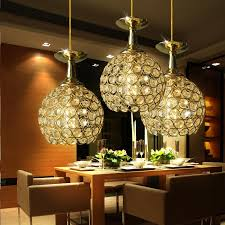 modern minimalist crystal gold pendant light dining room lamp three heads led corridor hallway balcony ac110v ac220v 15w pendant lights for kitchen glass