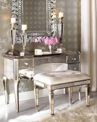 shimmering mirrored and metallic vanity