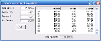Calculator Credit Card Payment Vb Helper Howto Calculate How Long It Will Take To Pay Off