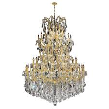 worldwide lighting maria theresa 61 light gold with double cut crystal chandelier