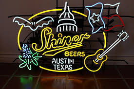 Shiner Neon Light Shiner Beers Austin Texas Neon Sign Real Neon Light
