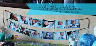 1st birthday banner milestone birthday banner for 1st birthday craft tutorial