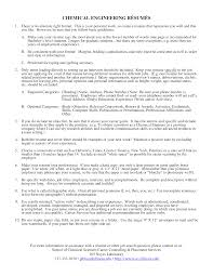 Free Chemical Engineering Resume Format Templates At